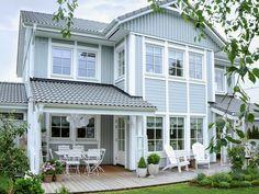Musterhaus innenausstattung  Bau eines roten Schwedenhauses mit Rörvikshus. Musterhaus für ...
