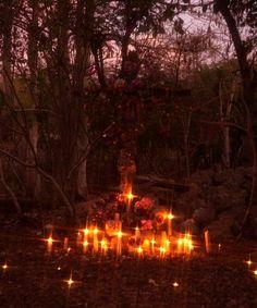 Santeria shrine, la santa muerte