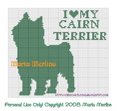 Crochet Living: I Love My Cairn Terrier Crochet Chart or Graph!