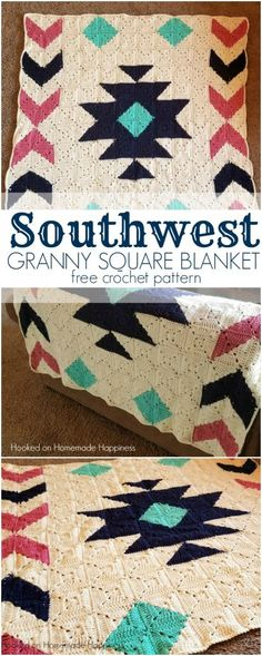Southwest Granny Square Blanket