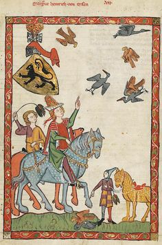Manesse Codex - (1300 - 1340) Markgraf Heinrich von Meissen