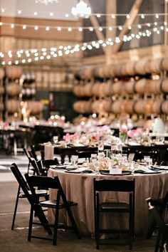 Market lights for indoor winey wedding