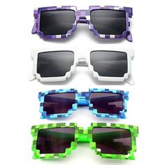 4 color! Fashion Minecraft Sunglasses Kids cos play action Game Toys Square Glasses with EVA case gifts for Men Women-in Action & Toy Figures from Toys & Hobbies on Aliexpress.com | Alibaba Group