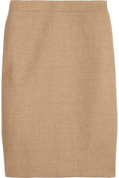 J.Crew wool-twill pencil skirt