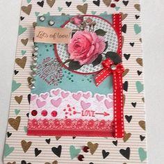 Carte de st valentin 3d, ou carte pour toute occasion, carte mariage. carte fiançailles, carte anniversaire maman