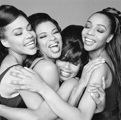 En Vogue, female R+B vocal group, comprised of original members Cindy Herron, Maxine Jones, Dawn Robinson,  Terry Ellis. They have won more MTV Video Music Awards than any other female group in the network's history, a total of 7, along with 4 Soul Train Awards, 6 AMAs,  7 Grammy nods. They are considered one of the most popular and successful female groups of all time. Their hits include Lies, Free Your Mind, Hold On, Give It Up, Turn It Loose, My Lovin',  Giving Him Something He Can Feel.