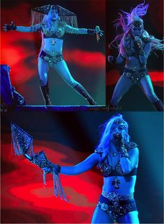 Lady Gaga performing at American Idol in her custom outfit completely created by L.A. Roxx!