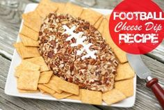Football Cheese Dip Recipe - Superbowl or College Football party idea