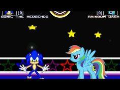 MUGEN無限格鬥 Sonic VS Rainbow Dash【Watch Mode】音速小子VS彩虹小馬雲寶【觀戰模式】