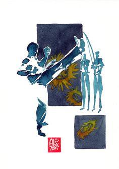 Encres : Capoeira – 559 [ #capoeira #watercolor #illustration]