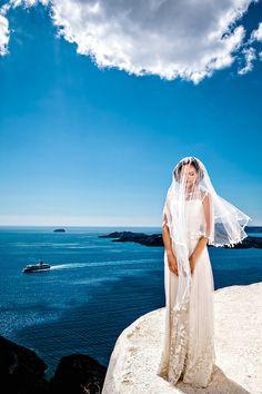 Agia Irini Santorini bridal portrait