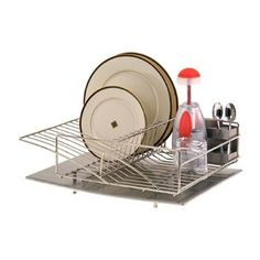 Amazon.com: Zojila 'Rohan' Dish Rack Drainer Utensil holder and Drain board, Stainless Steel Self Draining: Home & Kitchen