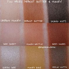 TOO FACED 'PEANUT BUTTER AND HONEY' PALETTE: REVIEW AND SWATCHES