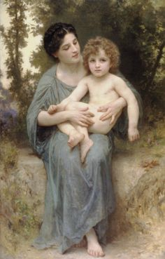 William-Adolphe Bouguereau, The younger brother, Le jeune frere, 1902 92.7×137.2 cm, at the Virginia Museum of Fine Arts https://iamachild.wordpress.com/category/bouguereau-william-adolphe/