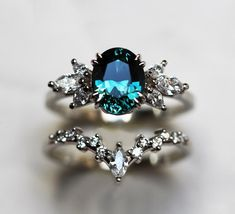 Dream Engagement Rings, Engagement Ring Settings, Halo Engagement, Colored Engagement Rings, Celtic Engagement Rings, Pretty Rings, Beautiful Rings, Sapphire Diamond Engagement, Engagement Rings With Sapphires