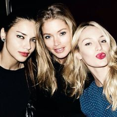 Adriana Lima,Doutzen Kroes and Candice Swanepoel