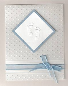 Baptism Card by llinzi - at Splitcoaststampers naissance part naissance bebe faire part felicitation baby boy clothes girl tips Confirmation Cards, Baptism Cards, Handmade Christening Cards, Baby Dedication, Making Greeting Cards, New Baby Cards, Embossed Cards, Baby Shower Cards, Baby Scrapbook