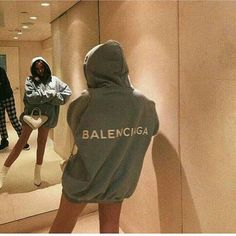 balenciaga hoodie 🌫 uploaded by Maria ♡ on We Heart It Mode Outfits, Fashion Outfits, Womens Fashion, Fashion Killa, Look Fashion, Fashion Mask, 2000s Fashion, Fashion Today, Fashion Goth
