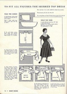 1950 shirred dress 1 by blueprairie
