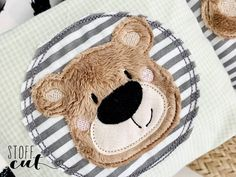 Baby Embroidery, Embroidery Files, Embroidery Patterns, Machine Embroidery, Pach Aplique, Doodle Bear, Baby Posters, Cute Baby Boy Outfits, Winter Baby Clothes