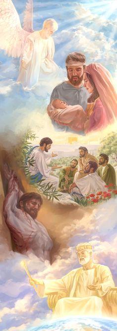 LAS DIFERENTES FACETAS DE LA VIDA DE JESUS.  (Proverbios 8:22 )  ( Colosenses  1:16 ).   (Filipenses 2:7 ). ( 1;Corintios 15:28 )