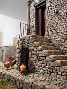 Elaboración belen Door Design Interior, Interior Design Living Room, Custom Garage Doors, Christmas Nativity, Christmas Villages, Château Fort, Castle Wall, Miniature Plants, Brick And Stone