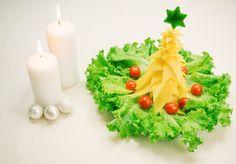 Arbol de Navidad de queso, un perfecto entrante