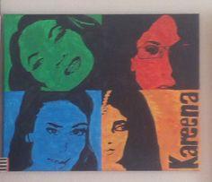 Kareena Kapoor 4mal, Zweifarbigkeit, Acrylmalerei