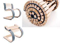 1er lugar en la competencia de Belgrado 2008 del diseño. Consiste en una novedosa silla desplegable de madera. Con detalls en goma que hacen mas comodo su uso, esta silla es ideal por su diseño, confort y poco peso.