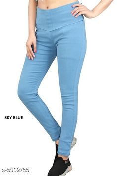 Checkout this latest Jeggings Product Name: *Denim Women Jeggings * Sizes:  28 (Waist Size: 28 in, Length Size: 38 in)  30 (Waist Size: 30 in, Length Size: 38 in)  38 (Waist Size: 38 in, Length Size: 38 in)  Country of Origin: India Easy Returns Available In Case Of Any Issue   Catalog Rating: ★4.2 (1076)  Catalog Name: Sana Graceful Women's Jeggings CatalogID_893017 C79-SC1033 Code: 844-5909755-7521