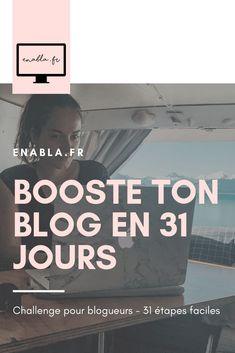 Un mois de challenge GRATUIT pour t'aider à professionnaliser ton blog en 31 étapes, une par jour reçue par mail.