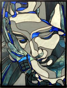 The Pieta - Delphi Stained Glass
