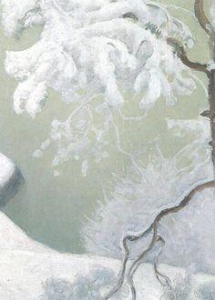 Pekka Halonen 1865 - Finnish Painter of Landscapes & People Pekka Halonen, Winter Landscape, oil on canvas, Hermitage M. Winter Landscape, Landscape Art, Landscape Paintings, Landscapes, Oil Paintings, Nordic Art, Scandinavian Art, Scandinavian Paintings, Watercolor Feather