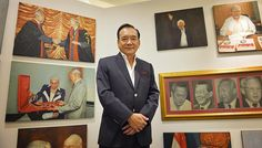 About 300 oil paintings on Lee Kuan Yew and Singapore on show at Suntec. About 300 oil paintings on the late Mr Lee Kuan Yew and the Republic's development are on display as part of an exhibition called The Singapore Story.