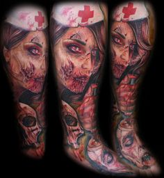 Awesome zombie tattoo