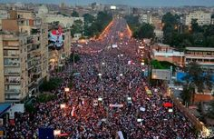 Protests against the Muslim Brotherhood regime , infront of presidential palace, Egypt 30/6/2013
