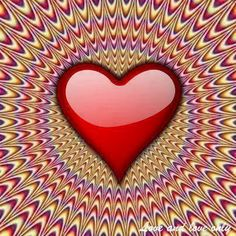 beating heart(resim-fotograf) It looks like it's moving but if you cover the heart you see it's not.