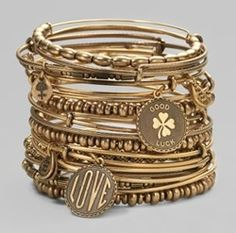 Alex and Ani- I love these bracelets and I wear them all the time.  Stack as many as you want! I can't get enough!