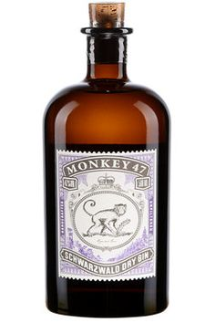 Black Forest Distillers Monkey 47 Schwarzwald Dry Gin/ 47 % vol. Orange France, Martini, London Dry Gin, Grand Marnier, Old Recipes, Glass Containers, Artisanal, Colored Glass, Whisky