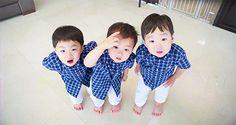 daehan minguk manse - The Return of Superman Cute Kids, Cute Babies, Song Il Gook, Triplet Babies, Superman Kids, Man Se, Song Daehan, Song Triplets, Korean Babies