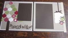 Ornamental Christmas 12x12 scrapbook layout
