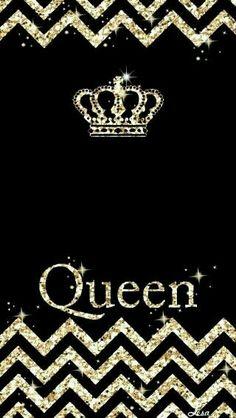 Pretty queen wallpaper gold black Pretty Wallpapers