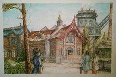 """Prachtig in de sfeer van Anton Pieck. De """"Baron 1898""""' nieuw te openen in 2015! Chris Dunn, Anton Pieck, Dutch Painters, Illustrators, Baron, Artwork, Artist, Houses, Painting"""