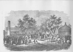 Sultan of baguirmi entering his capital, Massenya