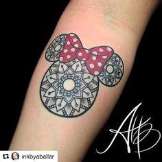 I finally did it guys!!! My ink looks amazing!!!! I love it!!! Thank you so much @inkbyaballar it is perfection! Can you guys find the hidden Mickeys???!!!!! #disneytattoo #minniemandala #disneyink  #Repost @inkbyaballar with @repostapp ・・・ Mindala! ☺ Thanks Isaura! #minniemouse #minnie #mandala #hiddenmickey #inkbyaballar #lucky13tattoosalameda