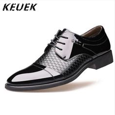 0ae88225b3bf New Arrival Men Casual Dress shoes Spring Autumn Lace-Up Pointed Toe Leather  shoes