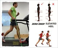 The more padding under the feet, the less sensory input is received whereby sensory feedback from the feet is important for adapting a proper foot-strike which is a forefoot strike http://runforefoot.com/whats-causes-a-runner-to-heel-strike/