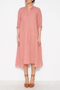 LINEN GAUZE DRESS BY GIADA FORTE   SHOPHEIST.COM
