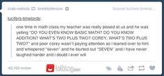 Poor Corey....