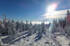 Amazing winter landscape on Skrzyczne - Beskidy mountains in southern Poland